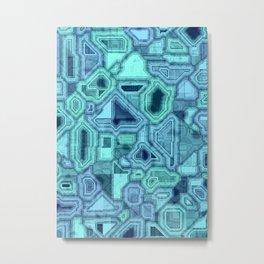 Blue circuitry Metal Print