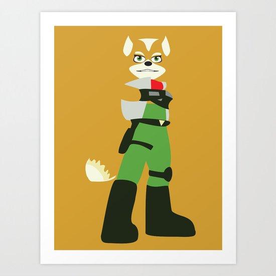 Starfox - Minimalist - Nintendo Art Print