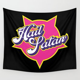 Hail Satan - pop vintage letters Wall Tapestry