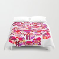 home sweet home Duvet Covers featuring Home Sweet Home by Shakkedbaram