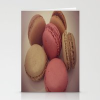macaroon Stationery Cards featuring macaroon by  Alexia Miles photography