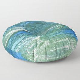 Wintergreen Dream abstract watercolor Floor Pillow