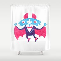 bat Shower Curtains featuring Bat by David Fernández Huerta