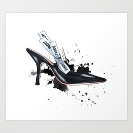 Little Black Shoe Art Print