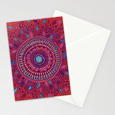 Red and Blue Mandala  Stationery Cards