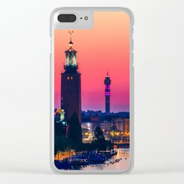 Stockholm, Dawn Clear iPhone Case