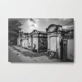 Black and White Cemetery 2 Metal Print