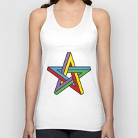 pentagram Tank Tops featuring Impossible Pentagram by Stephen Kemmy Graphic Designer