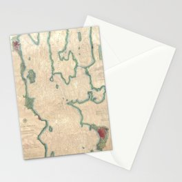 Vintage Map of Lake Champlain (1874) Stationery Cards