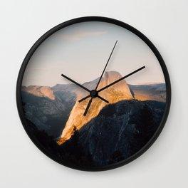 Light on Half Dome Wall Clock