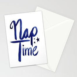 Nap Time | Lazy Sleep Typography Stationery Cards