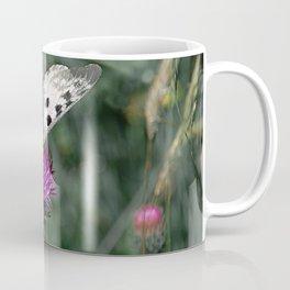 Polka Dots Butterfly Purple Flower Coffee Mug