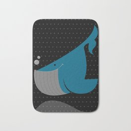 Night Whale Bath Mat