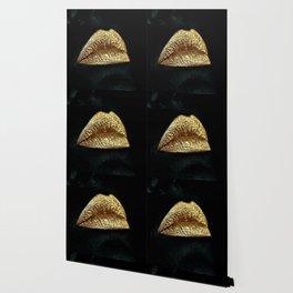 Golden Lips Wallpaper