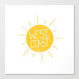 West Coast Sun Canvas Print