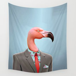 Pink Flamingo's Wall Tapestry