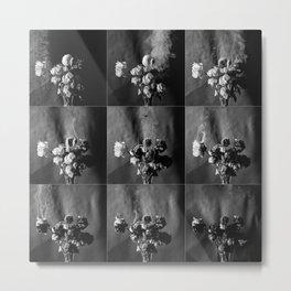 Burned roses Metal Print