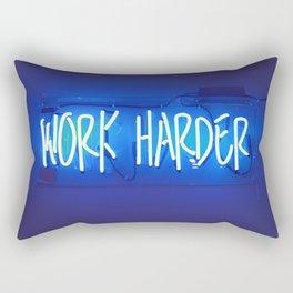 Work Harder Rectangular Pillow