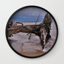 Drift Wood Beach 6 Wall Clock