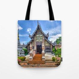 Chiang Mai Thailand Buddhist Temple Tote Bag