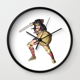 Queen of the amazons Wall Clock