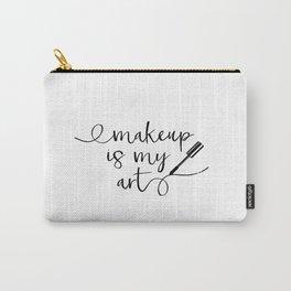 Mascara Makeup Makeup Print Vanity Print Bathroom Art Modern Home Decor Gift Women Black mascara Carry-All Pouch