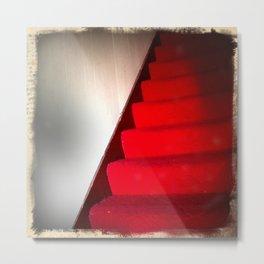 Red Carpet Stairs Metal Print