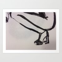 heels Art Prints featuring heels by R. Bender
