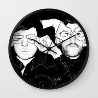 justice league Wall Clocks featuring Justice by SAIMIN