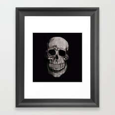 Keep smiling when your dead Framed Art Print