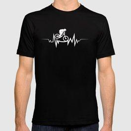 Mountain Biking Heartbeat For Bike Lovers T-shirt