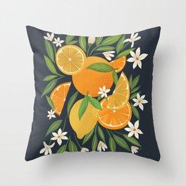 Citrus Burst Throw Pillow