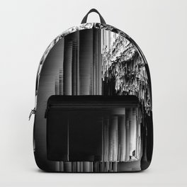 Haunted Static - Glitchy Abstract Pixel Art Backpack