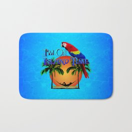 Island Time And Parrot Bath Mat
