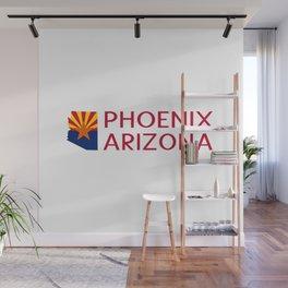 Arizona: Phoenix (State Shape & Flag) Wall Mural
