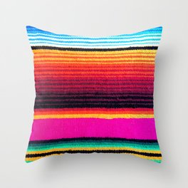 Magenta Sky Serape Throw Pillow