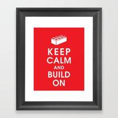 Keep Calm and Build On Framed Art Print