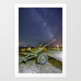 Milky Way and the Perseids Art Print