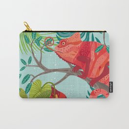 The Red Chameleon  Carry-All Pouch