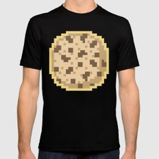 Pixel Cookie Black MEDIUM Mens Fitted Tee