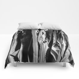 The Holy Book - High Contrast Black And White Typographic Design Comforters