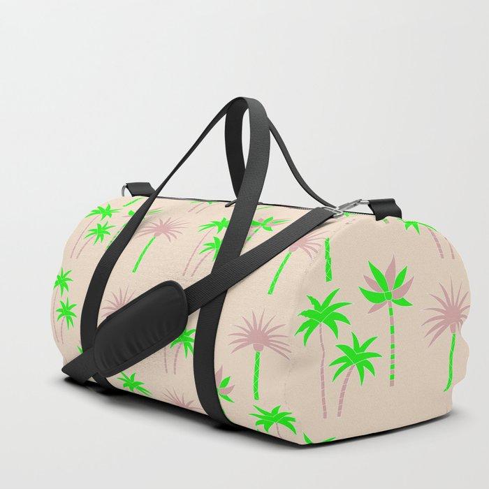 Palm Trees - Green & Neutral Duffle Bag