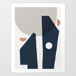 Minimalist Conversation Art Print