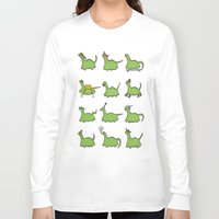 dinosaurs Long Sleeve T-shirts featuring Hooray! Dinosaurs! by The Dapper Jackalope