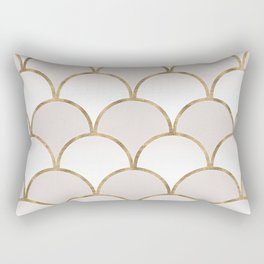 Golden Chinese Pattern Rectangular Pillow