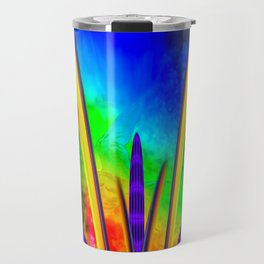 Fertile imagination 7 Rainbow Flower Travel Mug