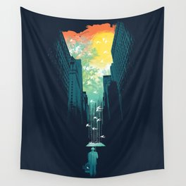 I Want My Blue Sky Wall Tapestry