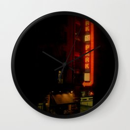 Late Night Park - New York City Wall Clock