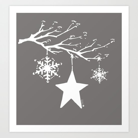 It was the night before Christmas Art Print