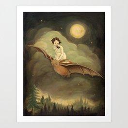 Flying By Night Art Print